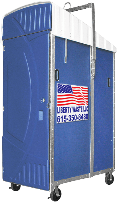 highrise unit portable toilet rental nashville side - Liberty Waste, Nashville, TN