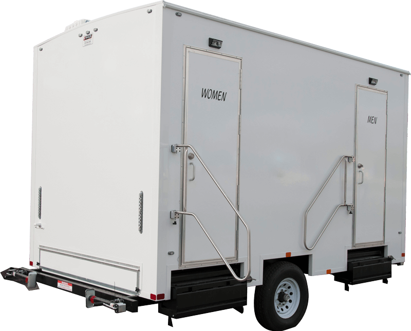 restroom portable trailer nashville rental - Liberty Waste, Nashville, TN