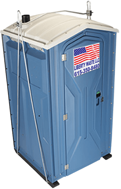 crane lift portable toilet rental nashville - Liberty Waste, Nashville, TN