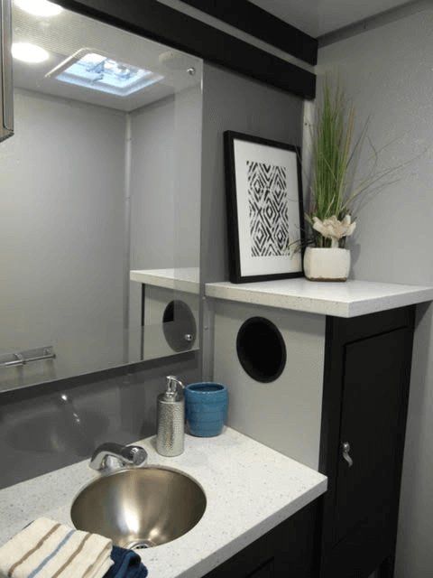 inside portable bathroom trailer 2